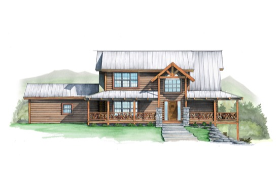 Flint Rock Lodge - Natural Element Homes
